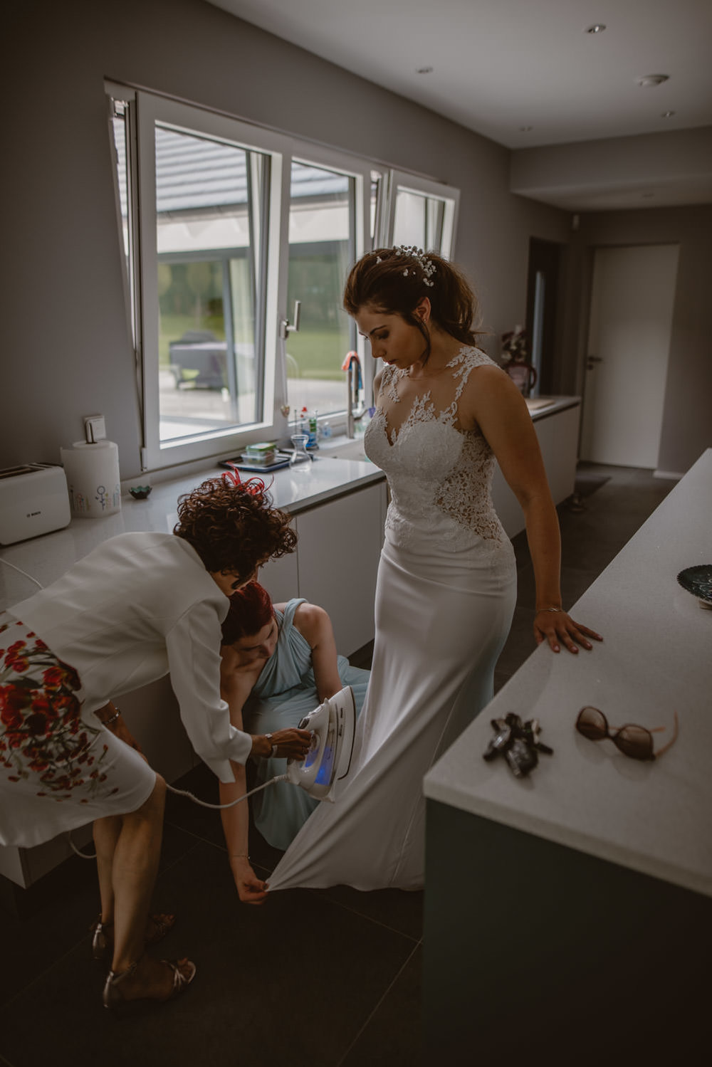 Ironing Wedding dress