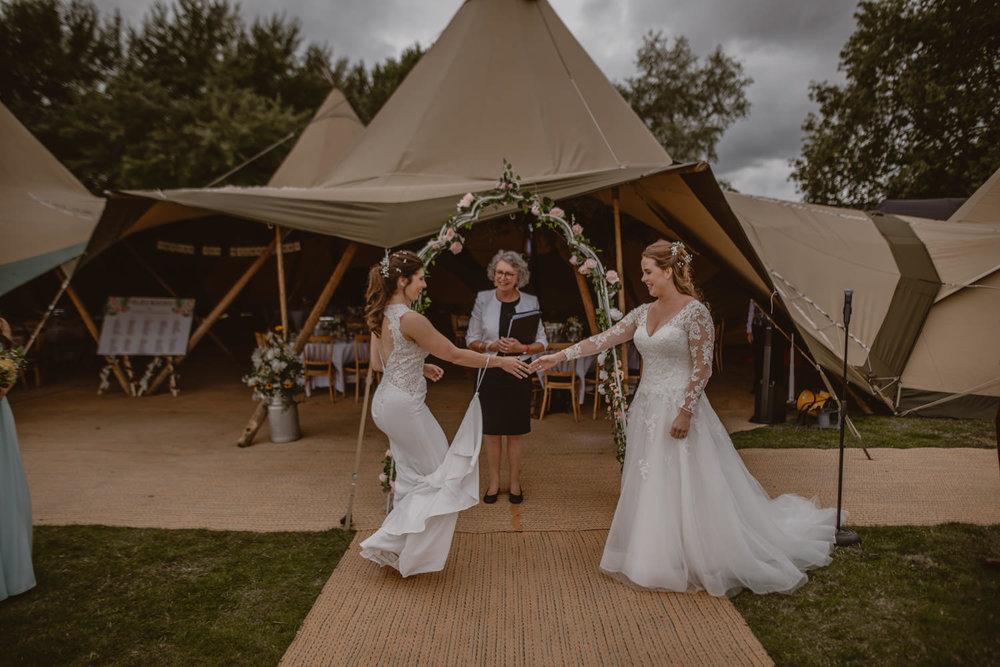 Same-sex wedding photographer