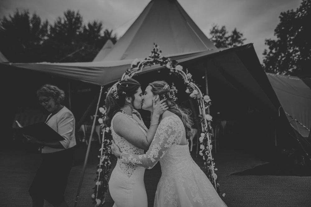 Same-sex couple wedding photos