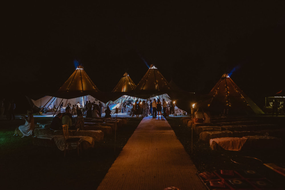 Tipi Wedding at a vineyard Fullerton State The Maze