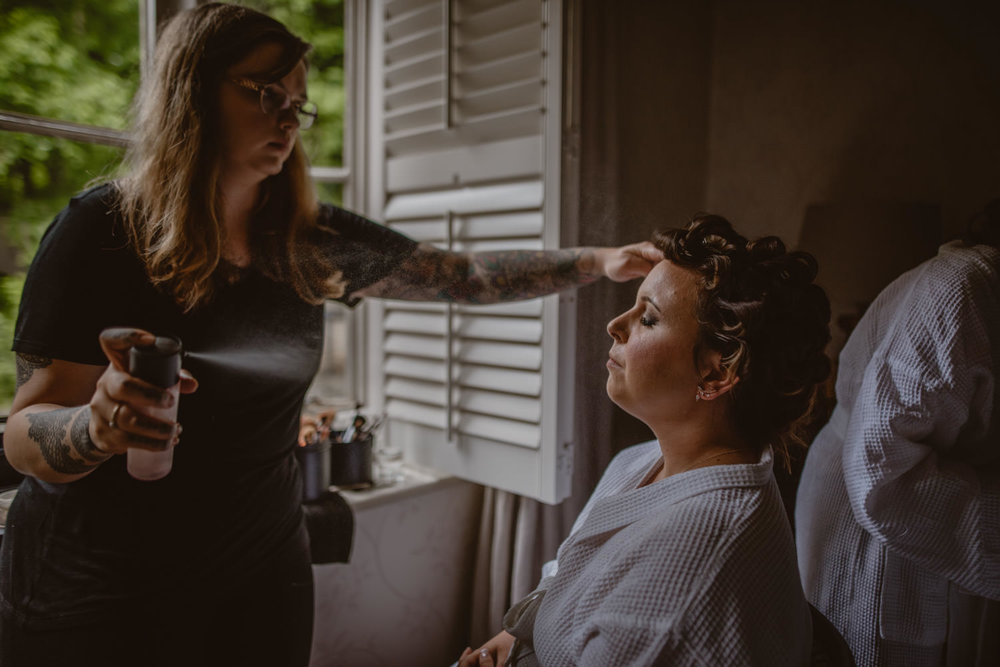Wedding Make-up Artist and Bride