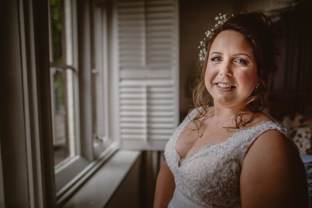 Bride ready for the ceremony