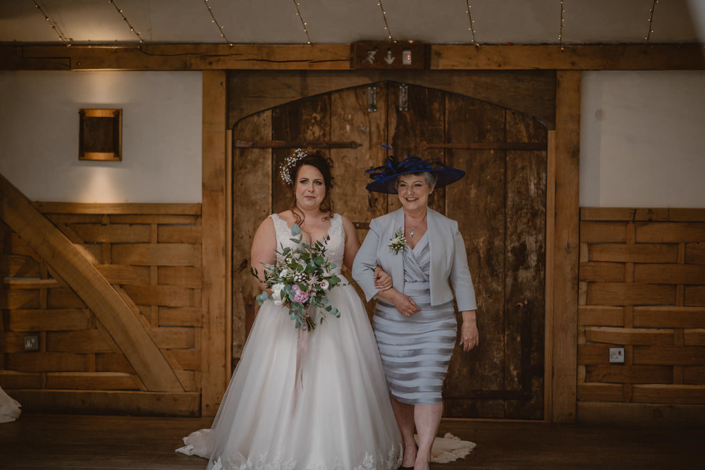 Bride and her Mother entering the ceremony