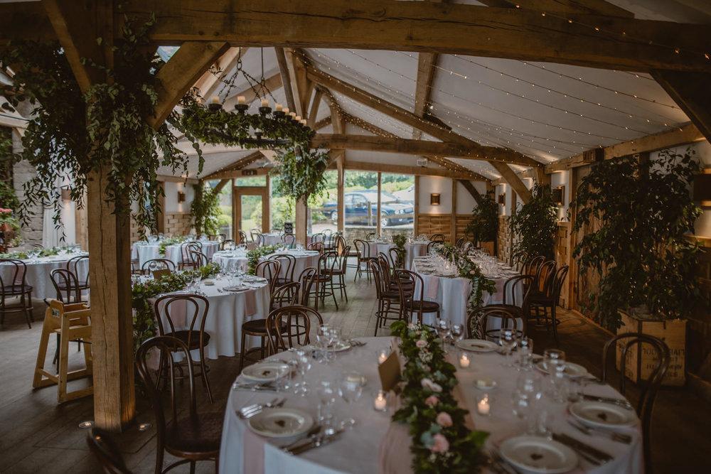 Wedding Decoration Cripps Barn Gloucestershire