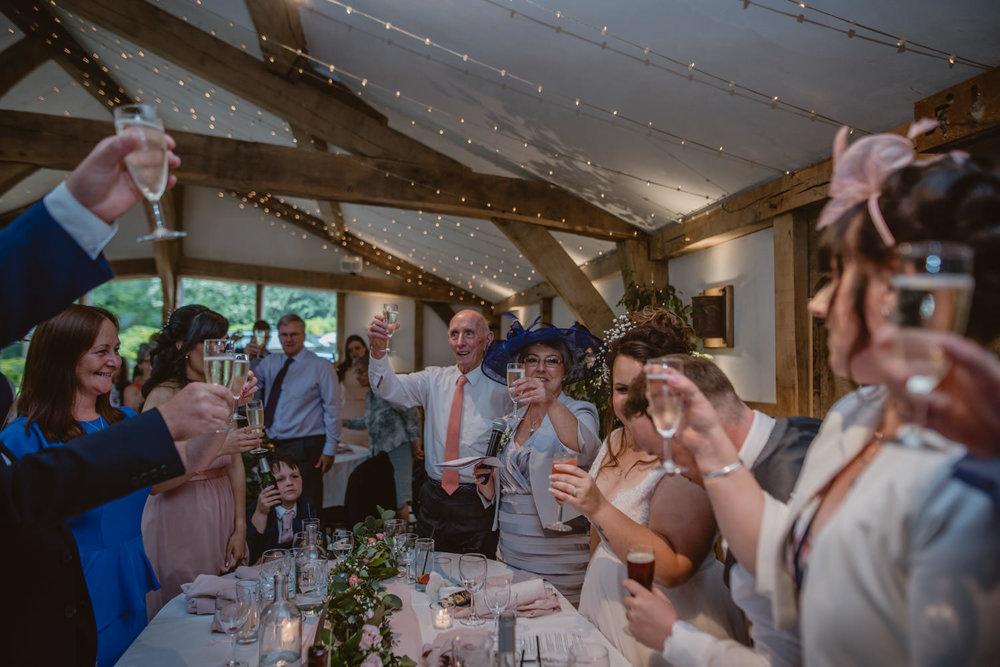 Wedding Toasts Cripps Barn
