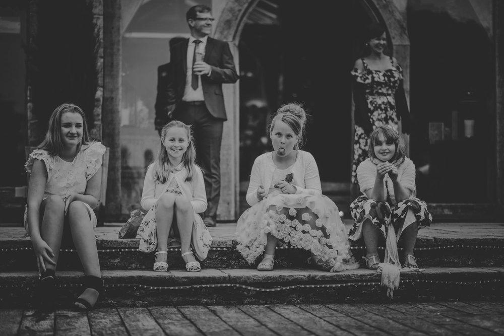 Children after the wedding