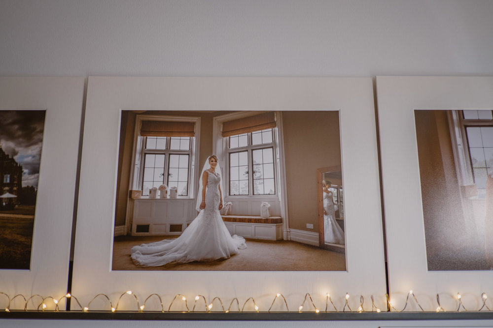 Matted Print of a Bride on her Wedding Day