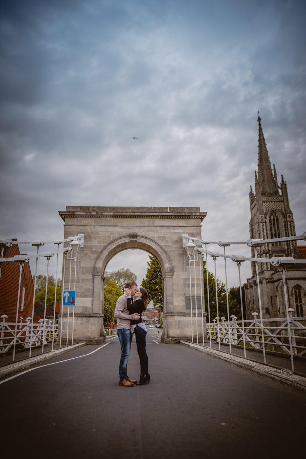 Marlow Bridge Engagement photos