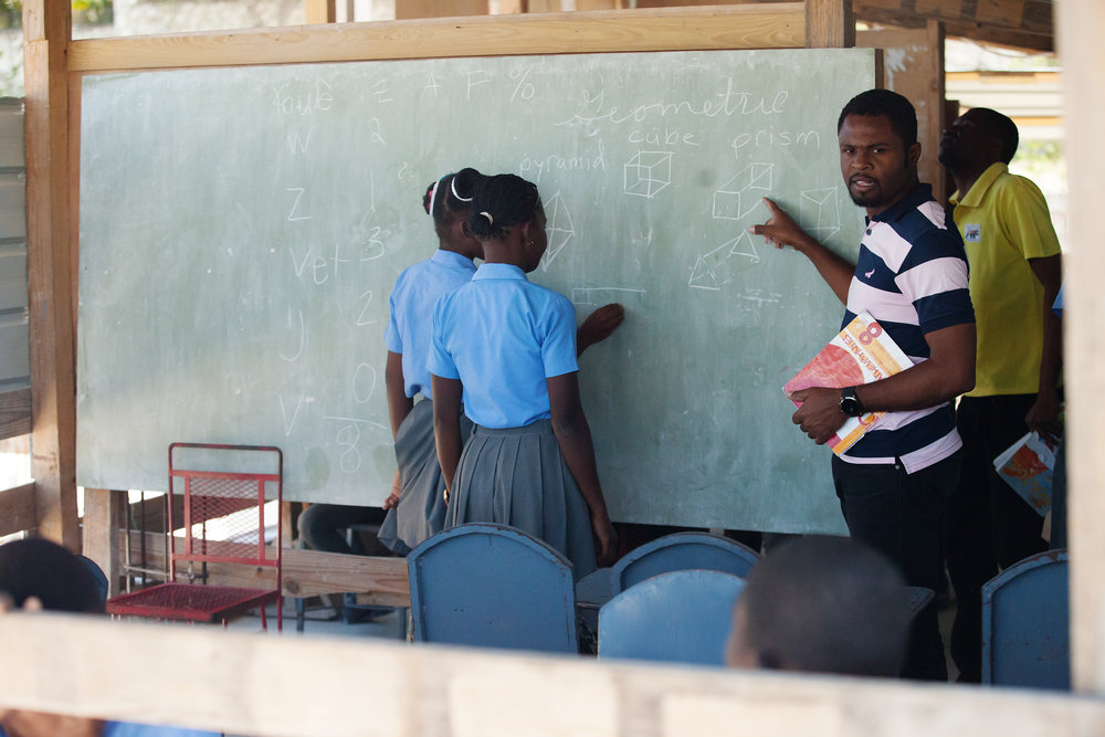 Primary School - A New Arrival Center (ANAC) primary school currently offers 9 classes, 1st through 9th grade. The school has over 120 students enrolled. Classes are offered in mathematics, reading, writing, science, social studies, French, Spanish, and English.