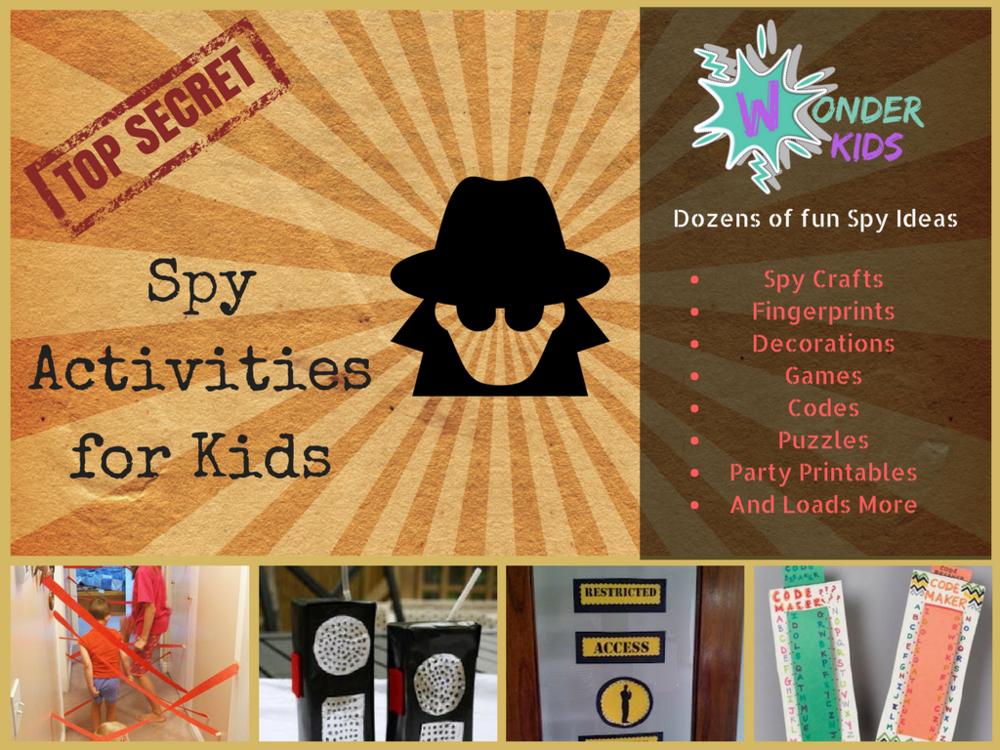 spy games games from wonder kids