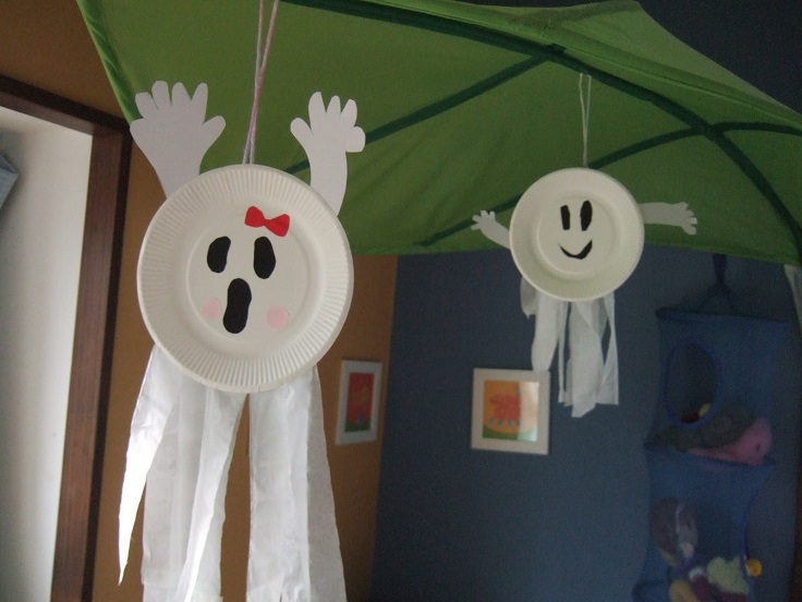 Paper plate Ghost from Wonder Kids