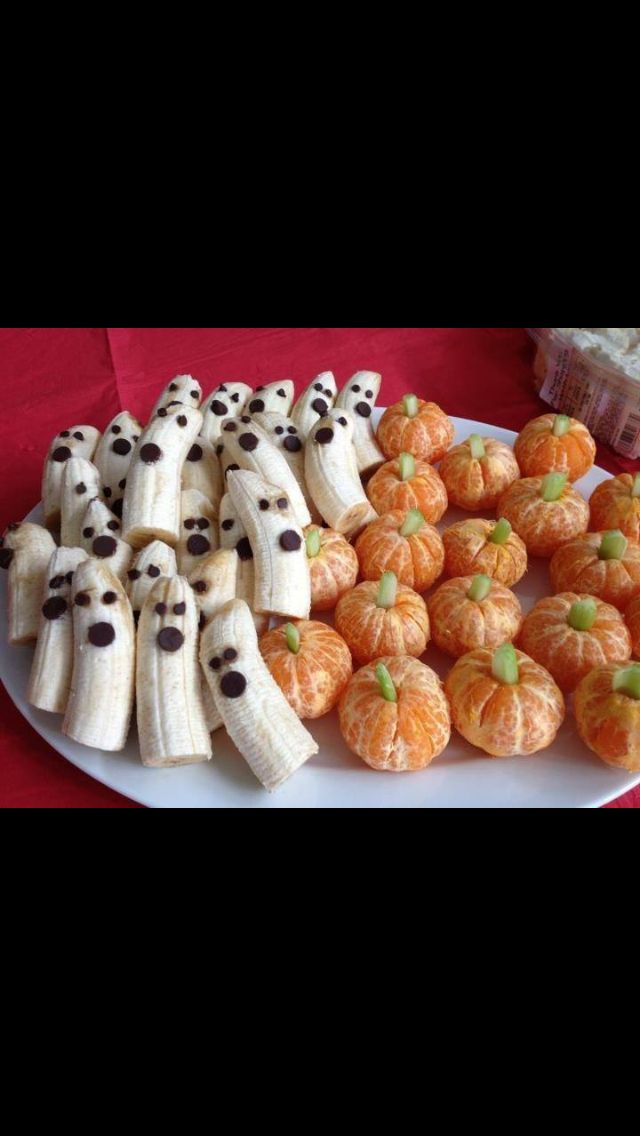 Banana Ghosts & Clementine Pumpkins