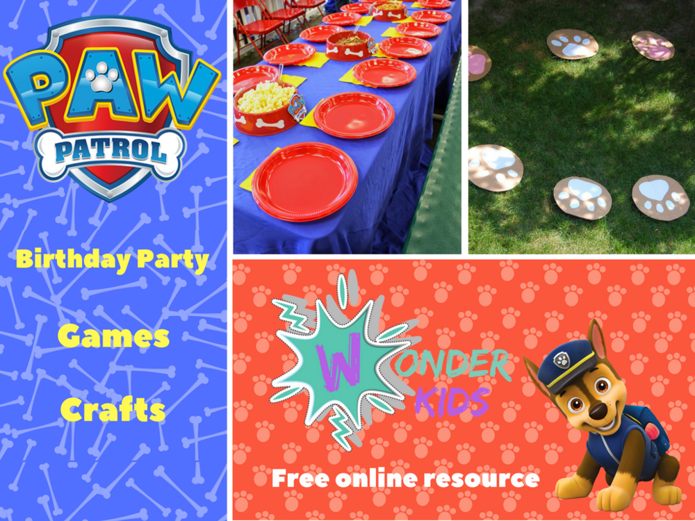 Paw Patrol Party Ideas from Wonder Kids