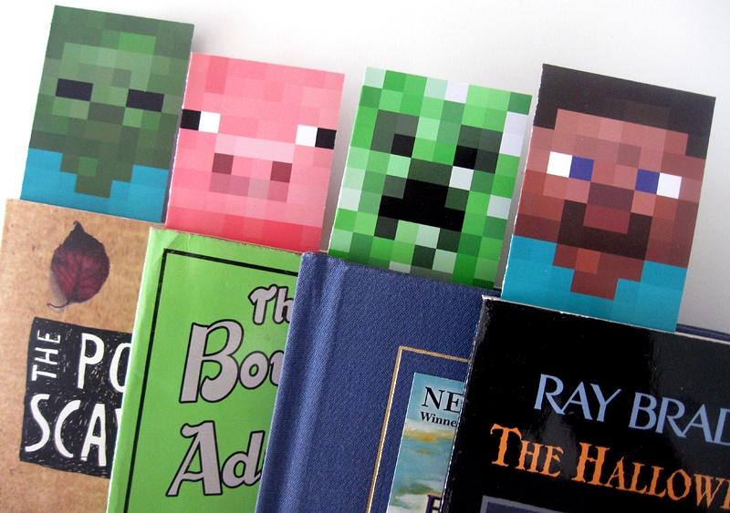 Minecraft bookmarks from Wonder Kids