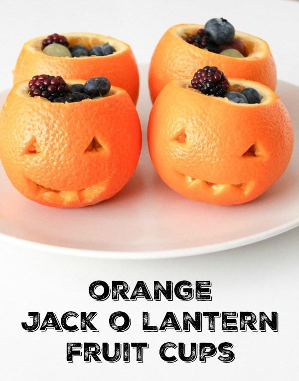jack O Lantern fruit cups