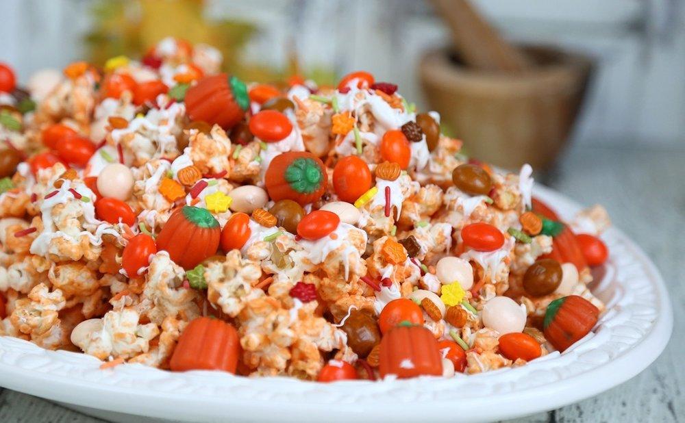 Pumpkin Spice Popcorn Treat