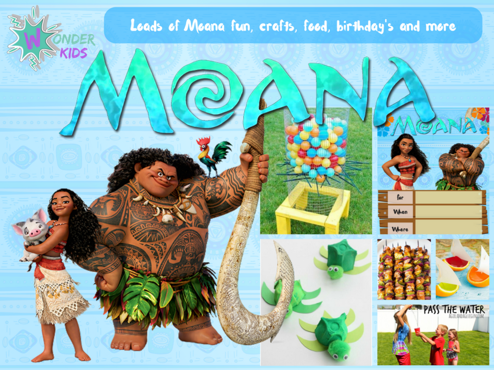 Moana Crafts and Games from Wonder kids