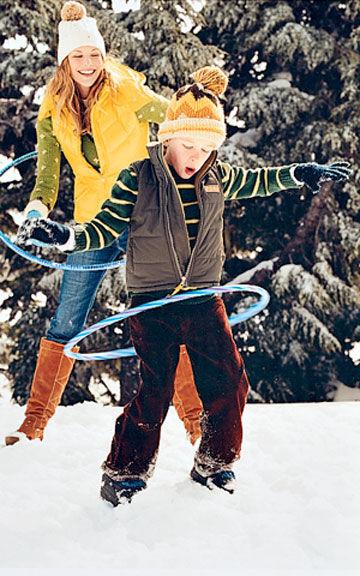 Hopp in snow
