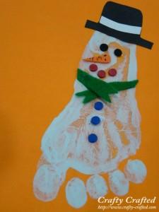 Footprint Snowman Wonder kIds