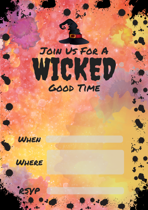 Wicked Halloween Party Invite