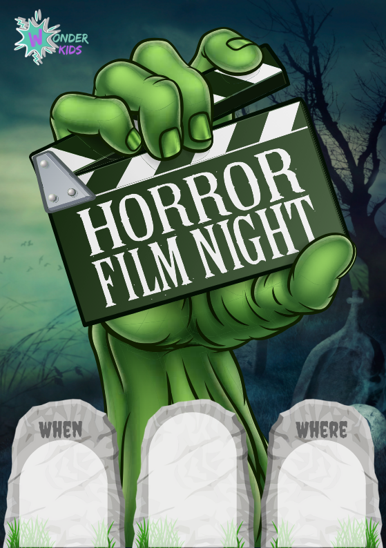 Horror Movie Night Invite