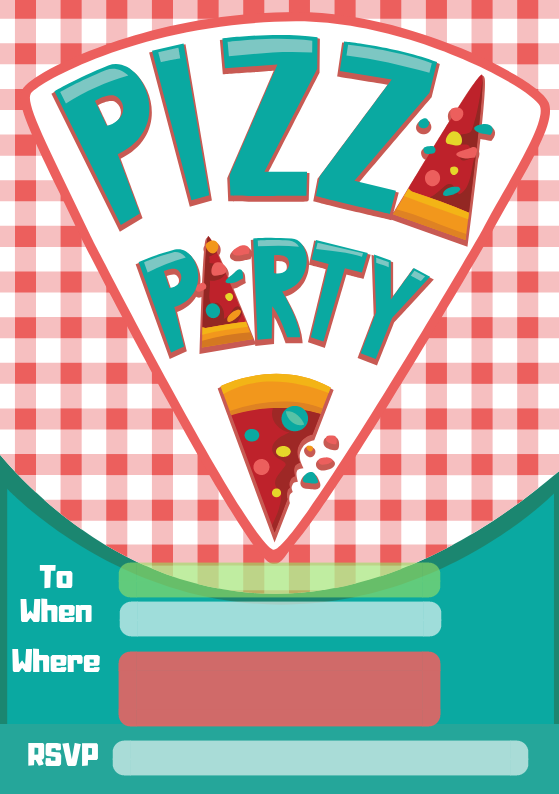 Pizza Party Invites