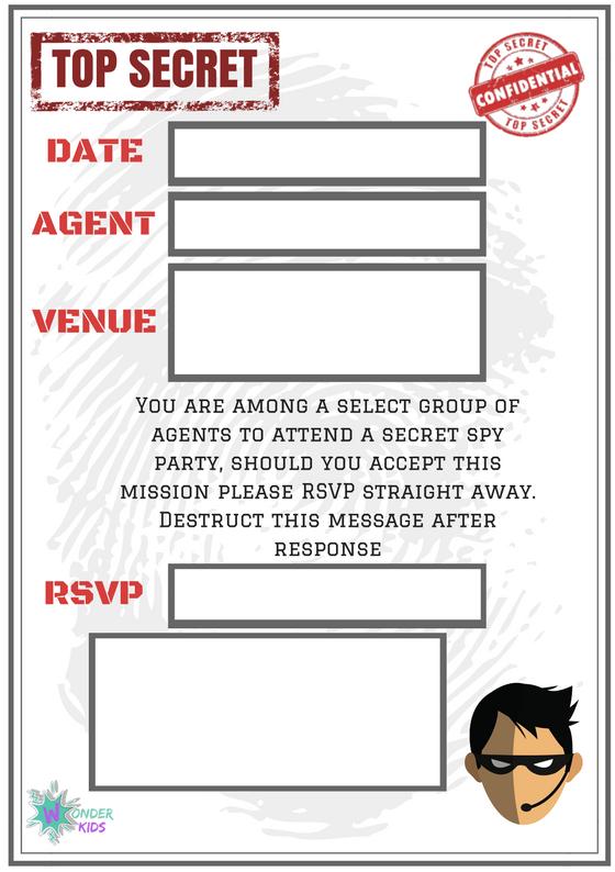 Secret Agent Invite