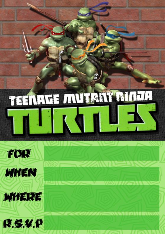 TMNT Invite from Wonder Kids