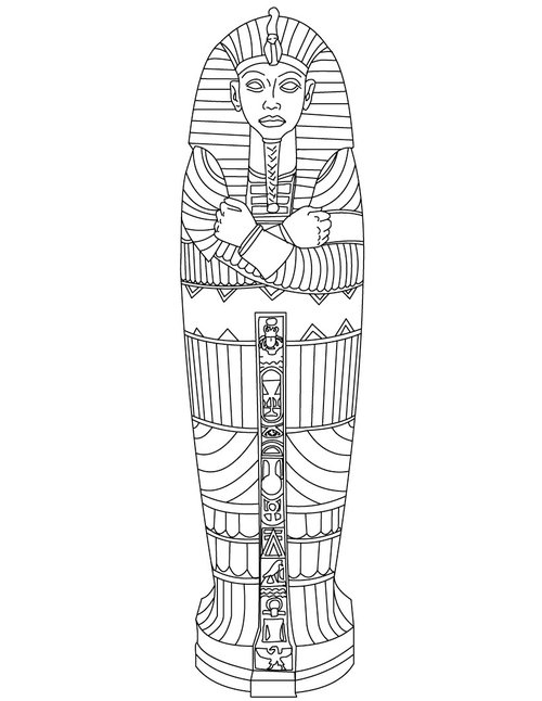 Egyptian Coloring Pages Ancient Egypt Coloring Pages ... | 646x500