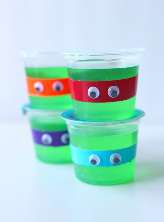 Ninja Turtle Jelly Cups
