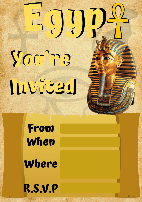Ancient Egypt Invite from Wonder Kids