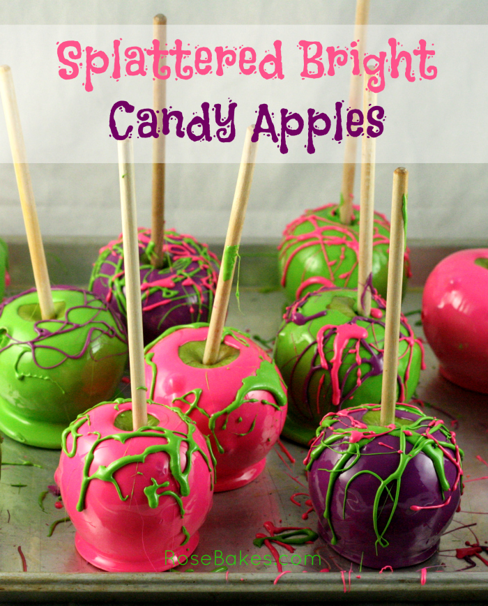 Splattered Candy Apples