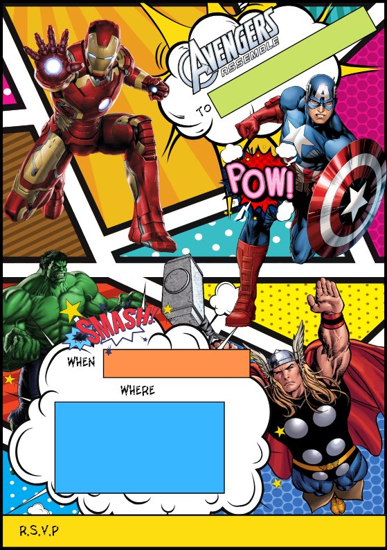 Superhero Party Invite