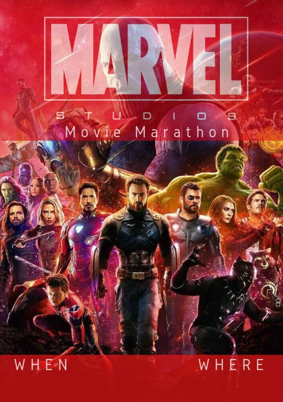 Marvel Movie Marathon Invite