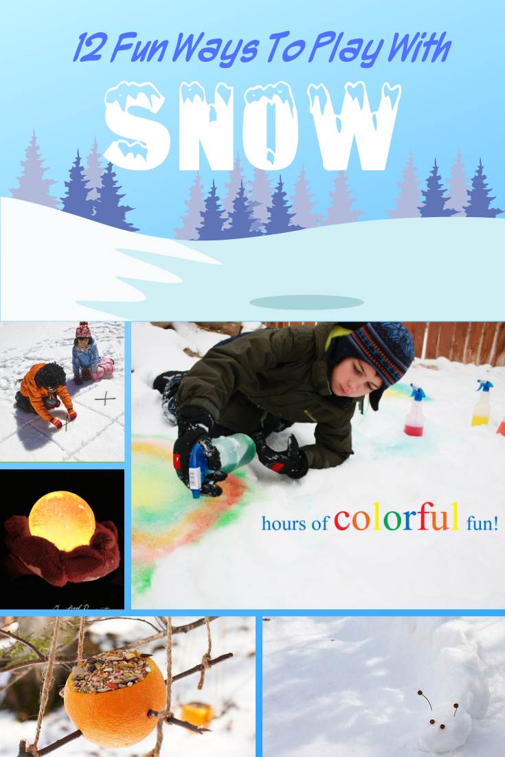 Fun ideas to play with Snow