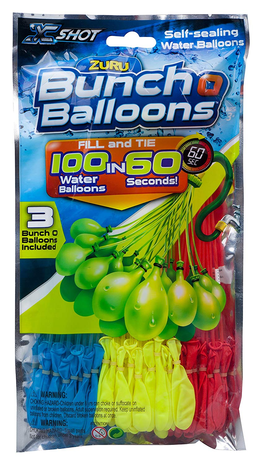 Quick fill water balloons on Amazon