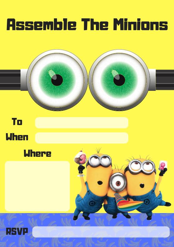 Minion Party Invite