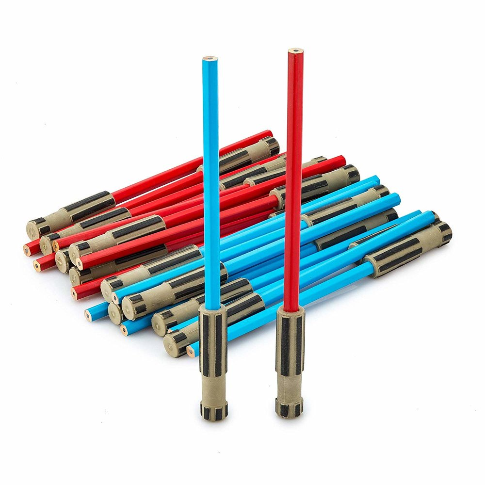 Buy Lightsaber Pencils from Amazon to go with the stationary R2D2