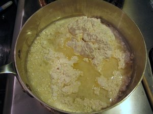 Combine ingredients into pan