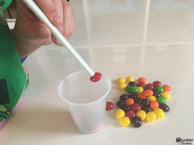 Collect the Rainbow - Each child gets a cup, a straw and a pile of skittles, they only have 30 seconds or a minute to suck as many different colours into their cup, the winner is the person with the most skittles in their cup.