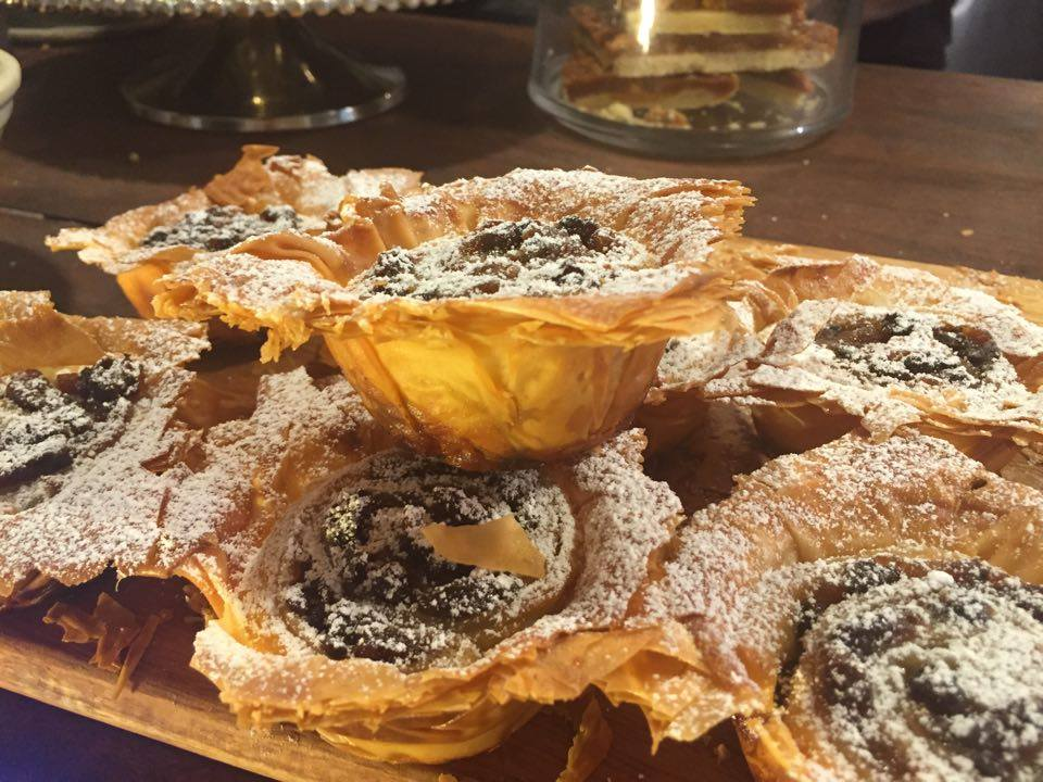 Getting into the Christmas spirit with our filo pastry mince-pies.