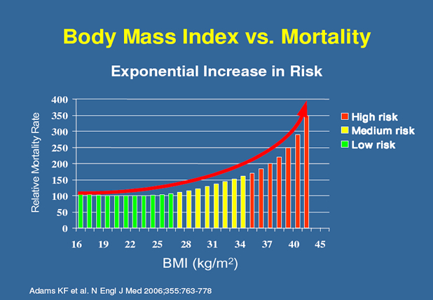 obesity mortality graph