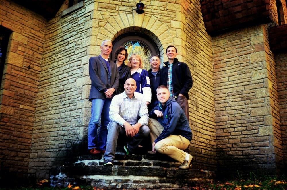 The Pathways Church Board of Directors (from left to right): Scott Jenkins (Board Chairman), Karen Senn (Treasurer), Jeanne Dempsey, Greg Howat (Board Secretary), Adam Demetrician (Lead Pastor), Gary Smith (Worship Pastor), and Chris Tarmann