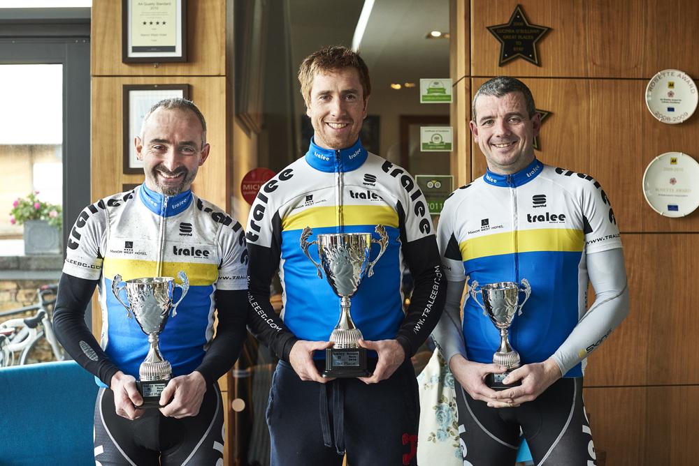 (L-R) 2nd Mike Leahy. 1st Cathal Moynihan. 3rd Michael O'Sullivan