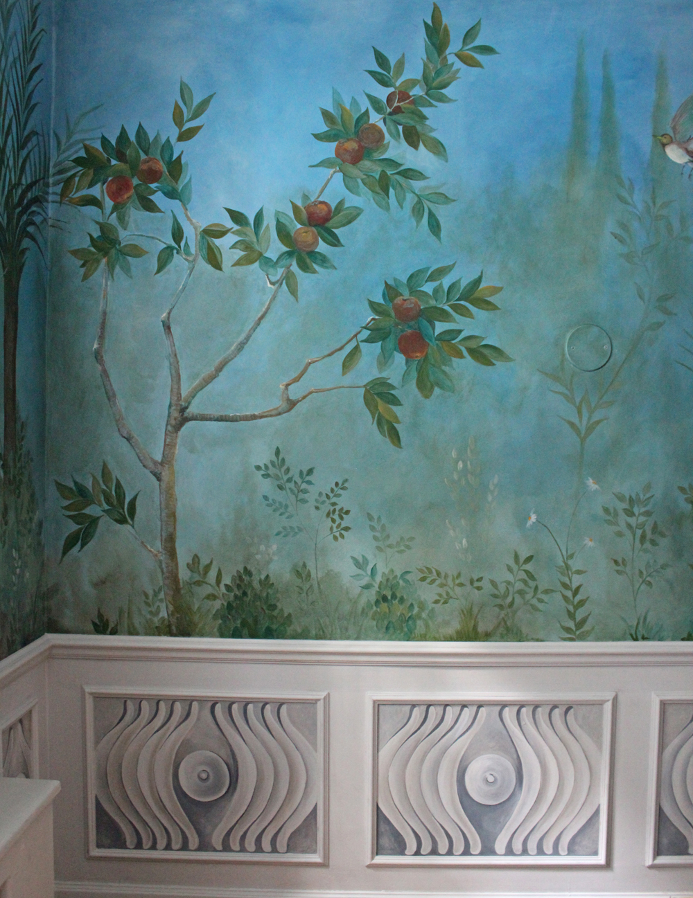 Tromp l'oeil Panel in situ
