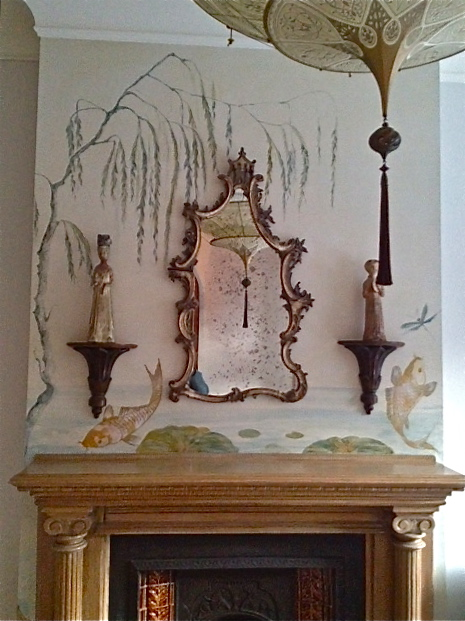 Chinoiserie Mantle Mural