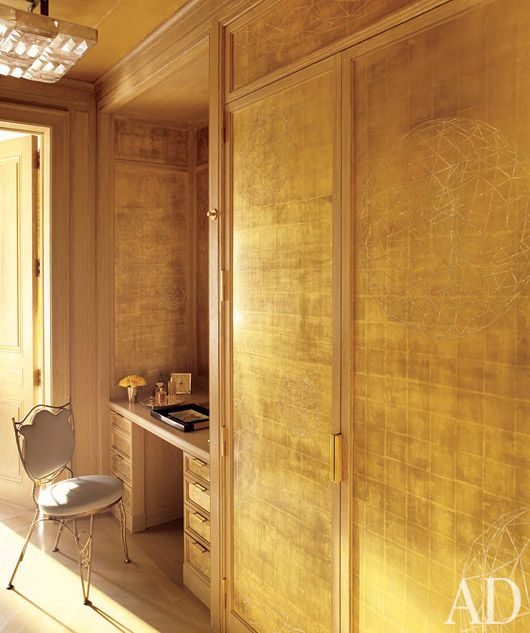 Gold Leaf Walls