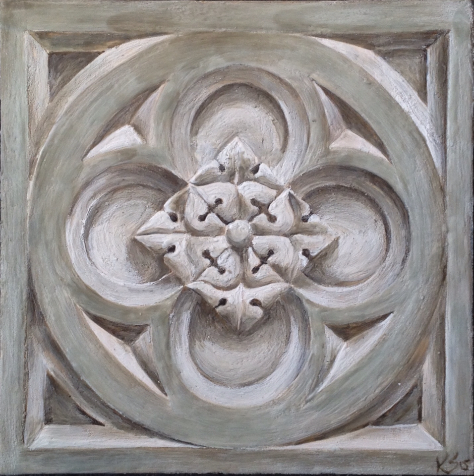 """Peace"" 12""x12"" Encaustic on Board"