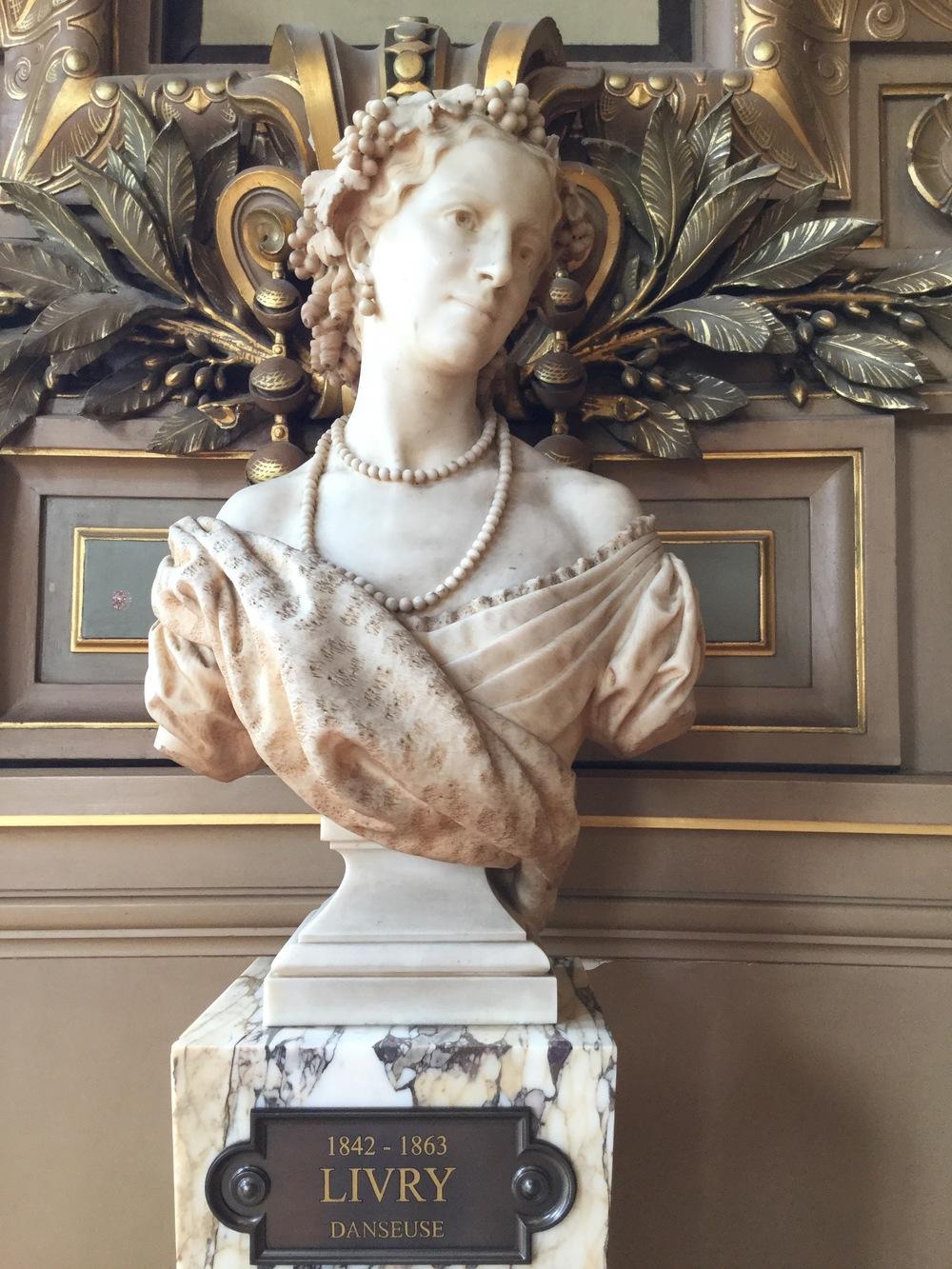 Bust of Emma Livry - dancer