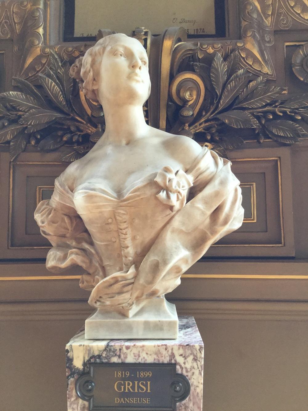 Bust of Carlotta Grisi - dancer